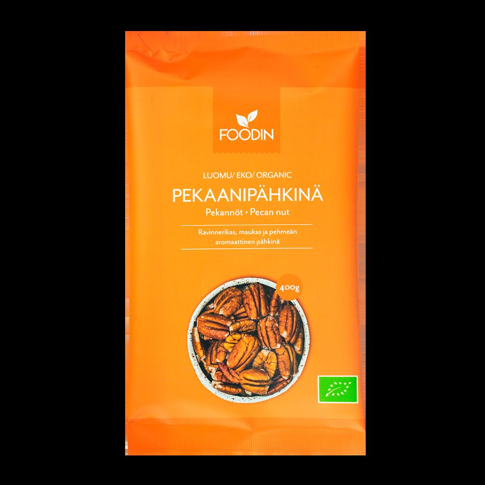 Pekaanipähkinä, Luomu, Raaka, 400g