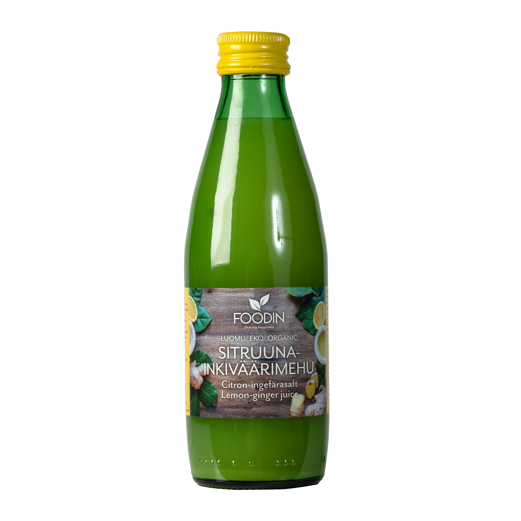 Sitruuna-inkiväärimehu, luomu, 250 ml 12-PACK