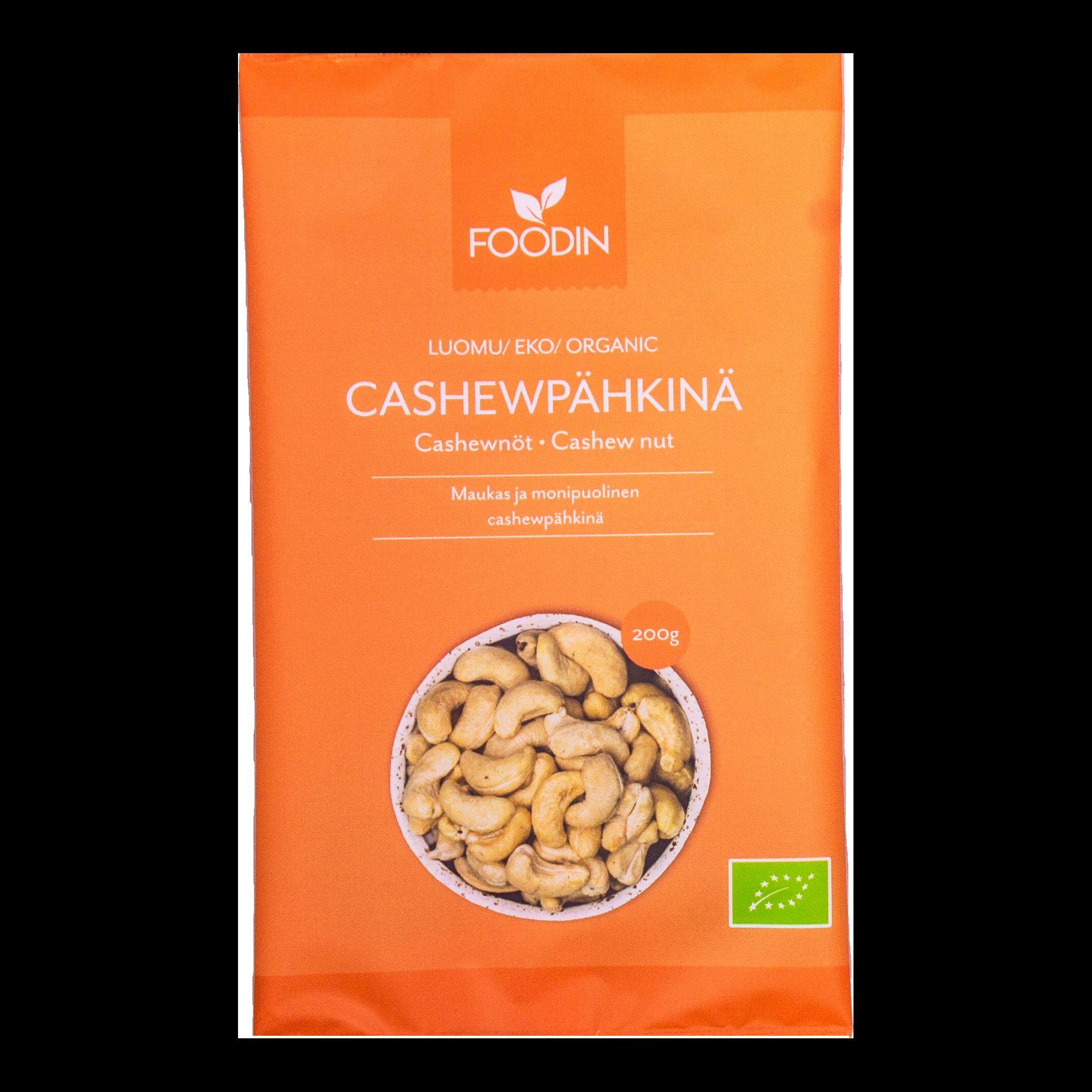 Cashewpähkinä, luomu, 200g