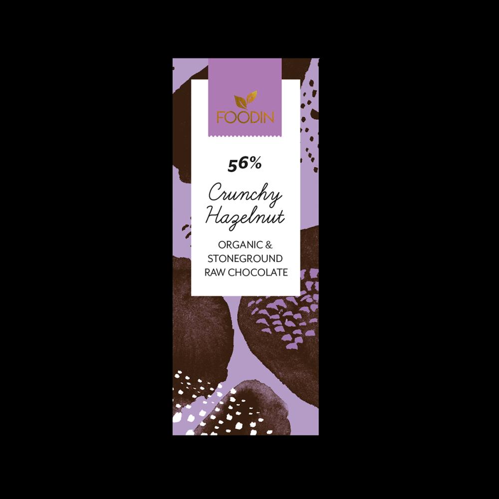 Raakasuklaa, Luomu, 56% Crunchy Hazelnut, 40g