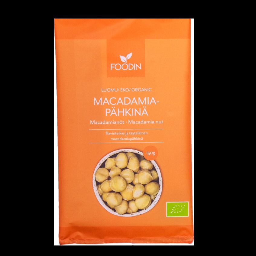 Macadamiapähkinä, 150g, luomu, raaka