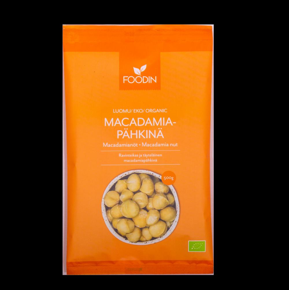 Macadamiapähkinä, 500g, luomu, raaka