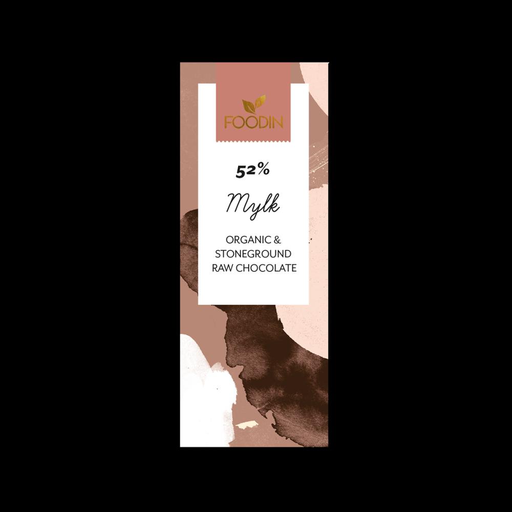 Raakasuklaa, Luomu, 52% Mylk, 40g