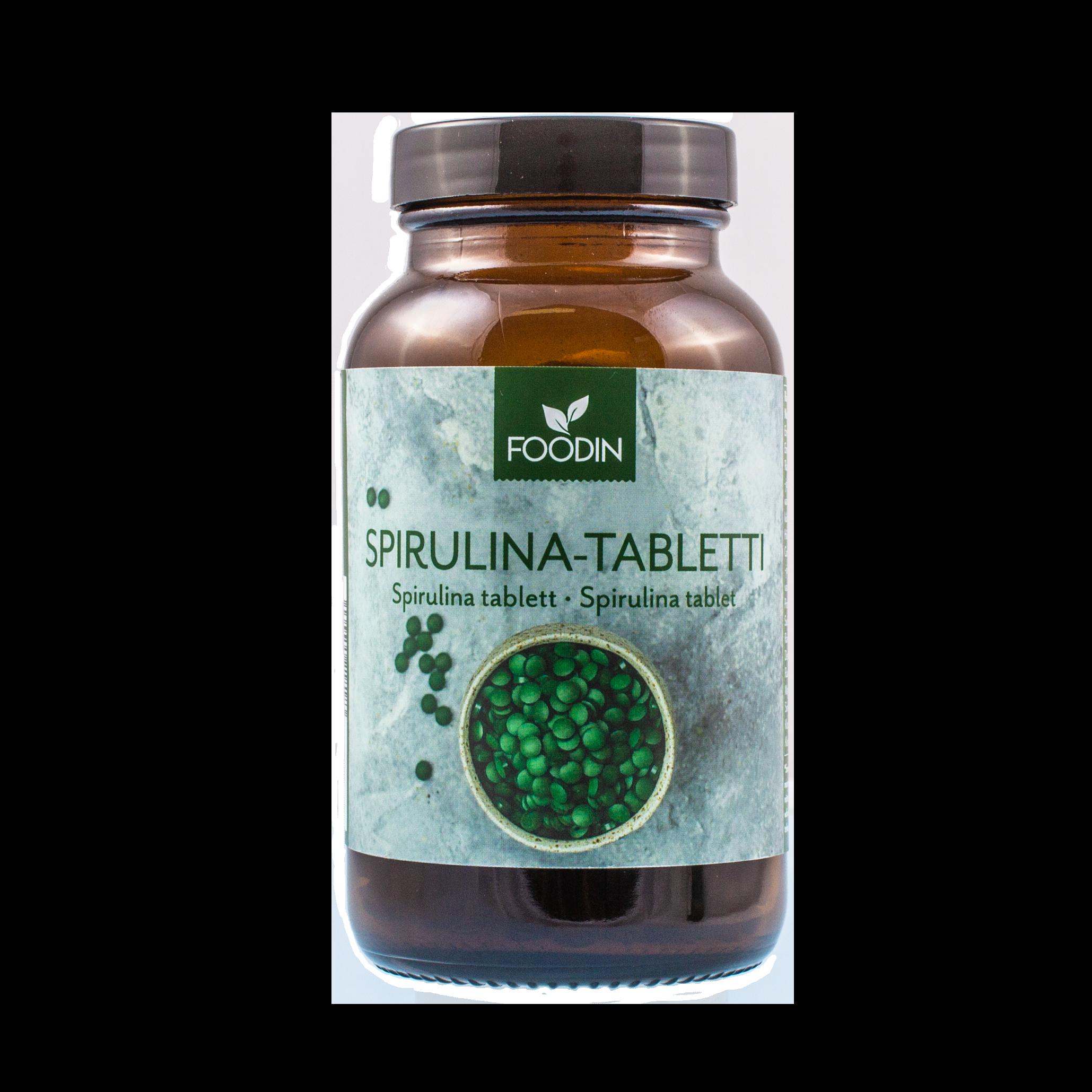 Spirulina-tabletit, Luomu, 110g