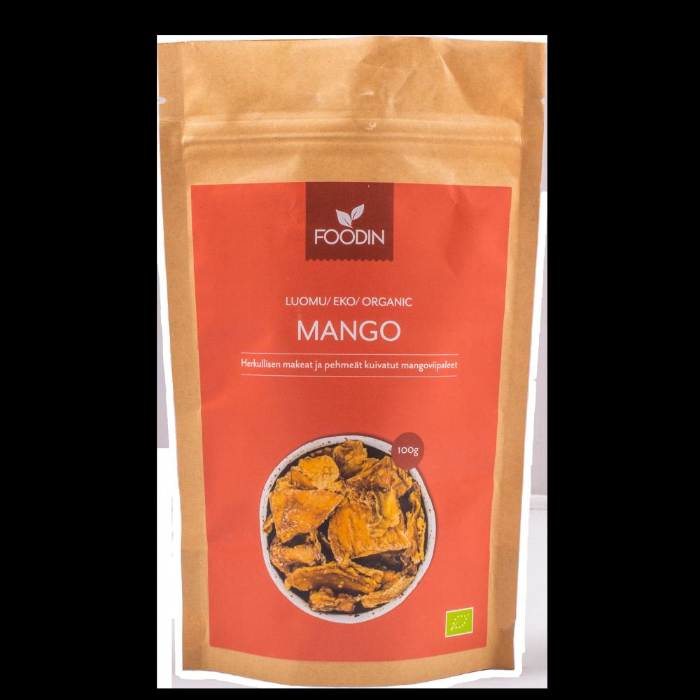 Kuivattu mango, Luomu, Raaka, 100g