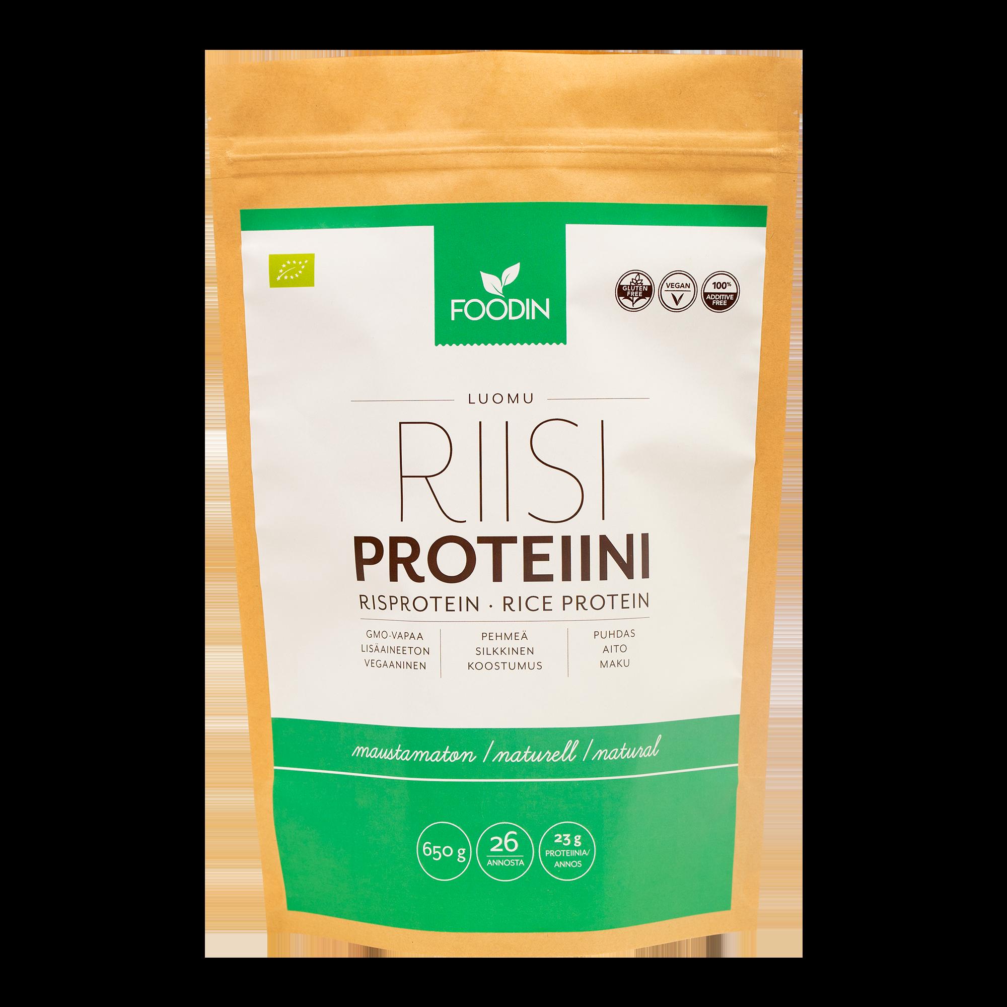 Riisiproteiini, Maustamaton, Luomu 2,5 kg