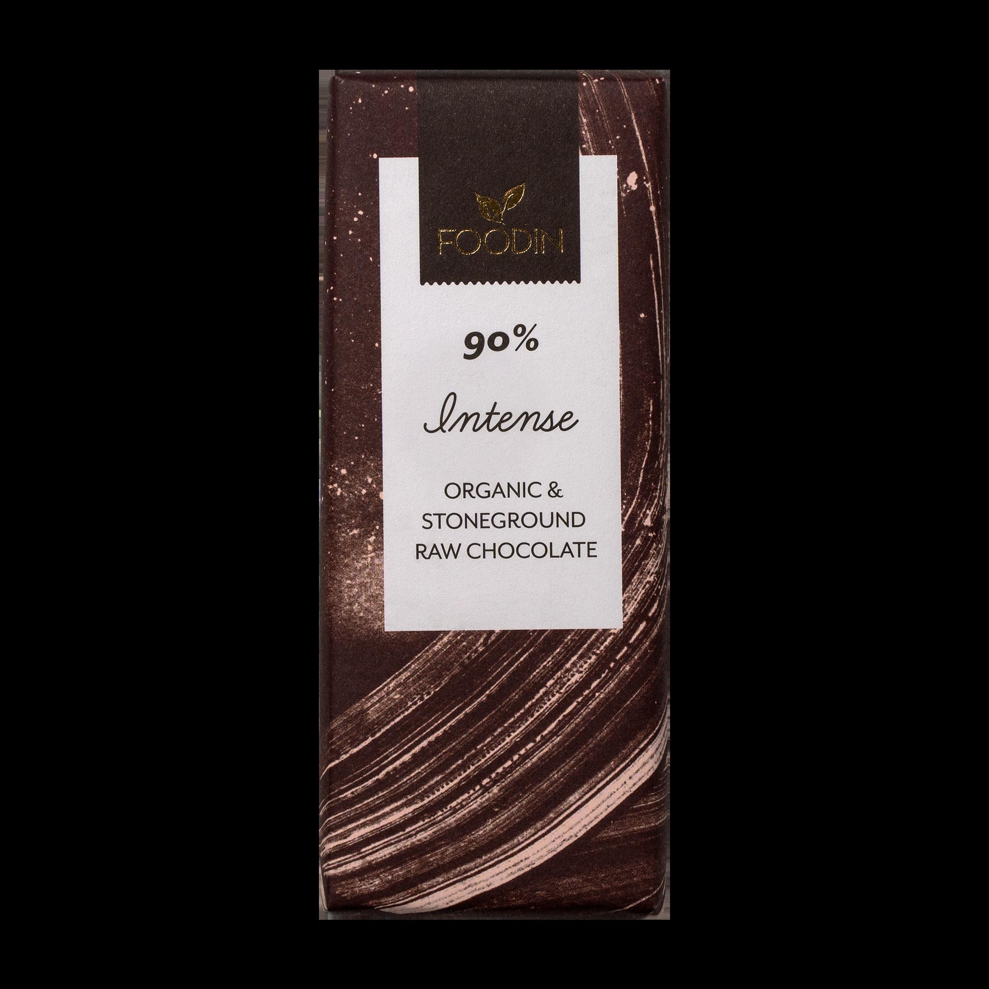 Raakasuklaa Intense 90%, luomu 40 g