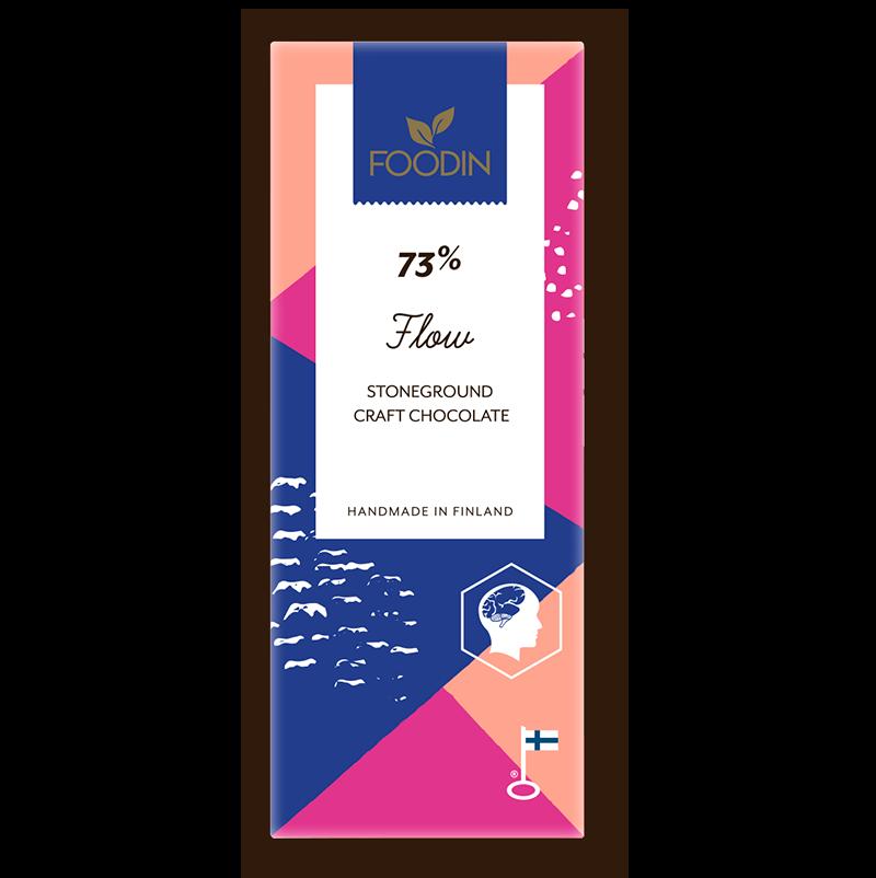 Raakasuklaa Flow 73%, 40 g