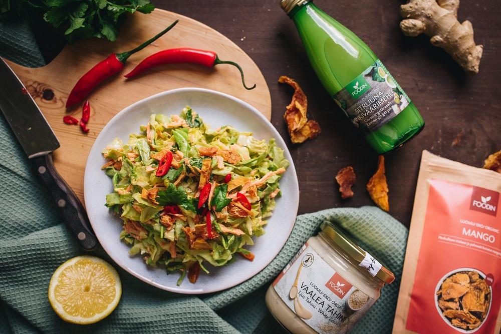 Sitruunamehu ruoanlaitossa ja vegaaninen coleslaw