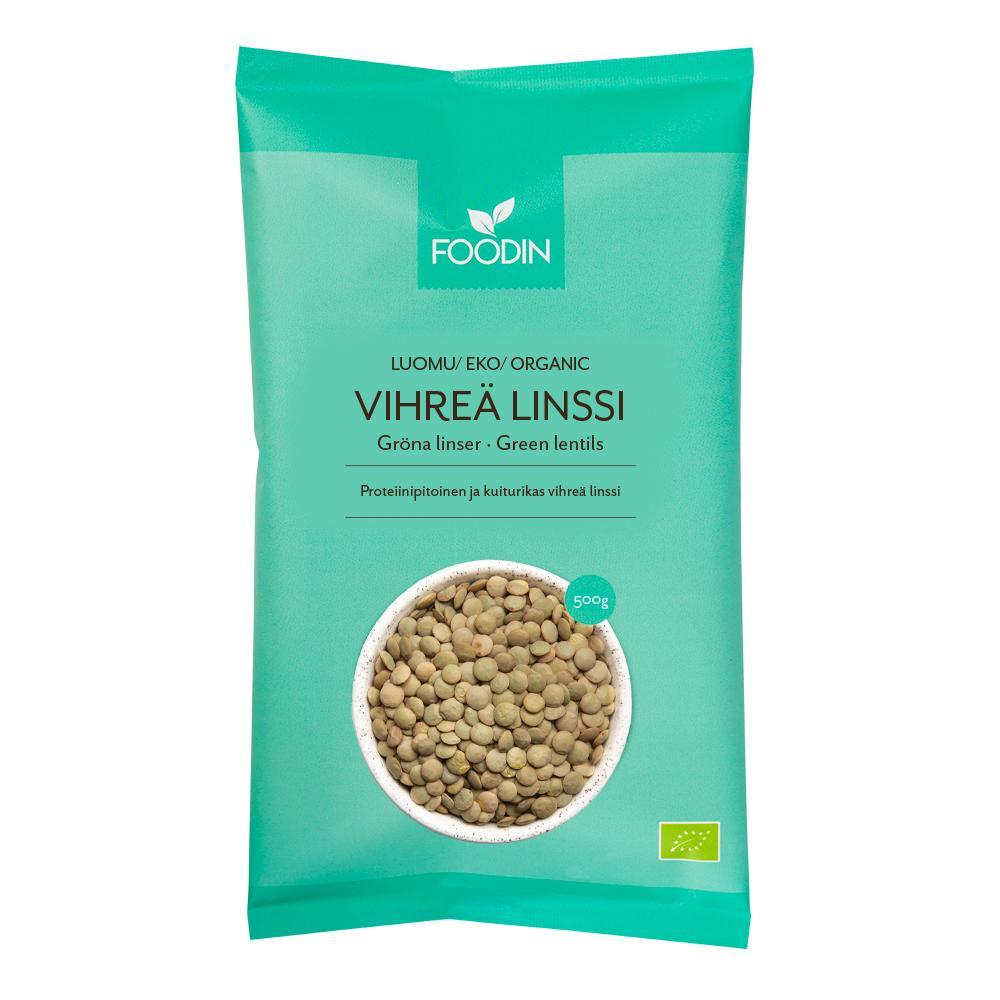 Vihreä linssi, luomu 500 g